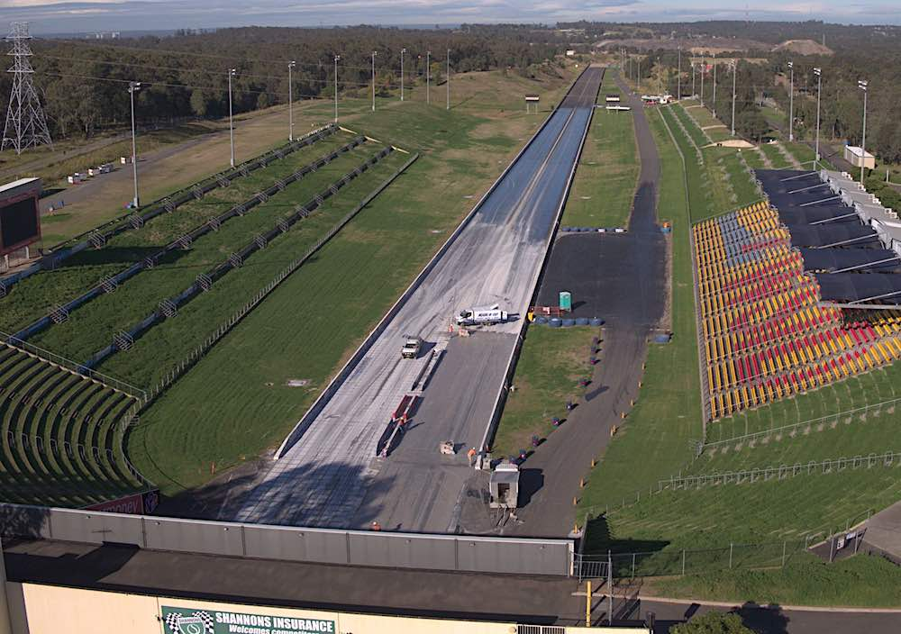 Sydney Dragway redevelopment by drone