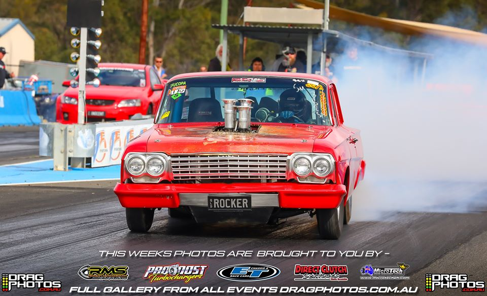 Injected Chev doing burnout
