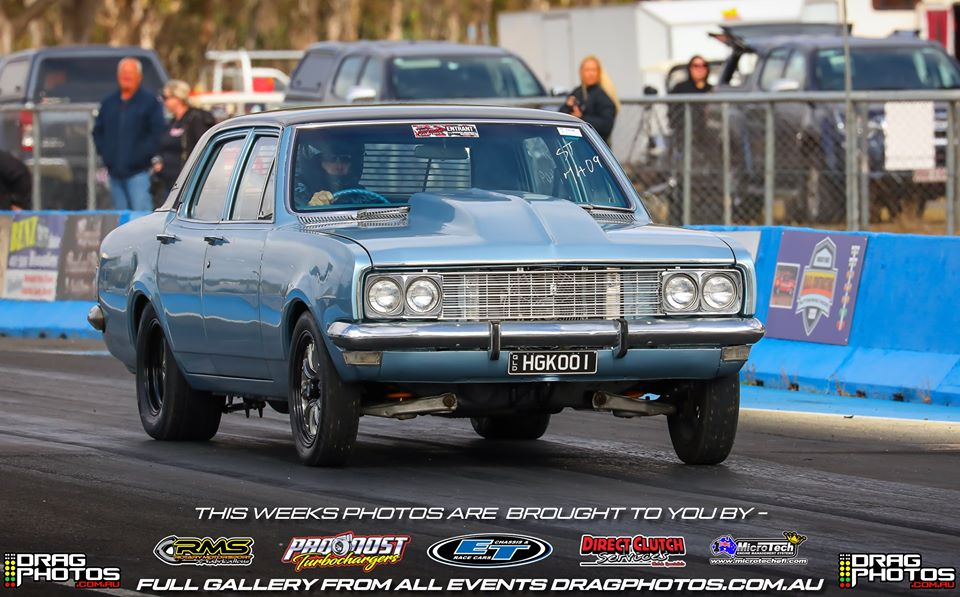 Classic Holden HG sedan at drag race