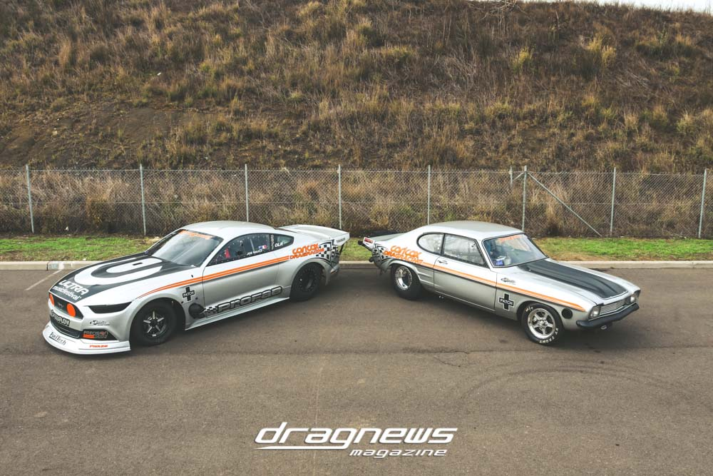 Carl Cox and Joe Gauci drag cars
